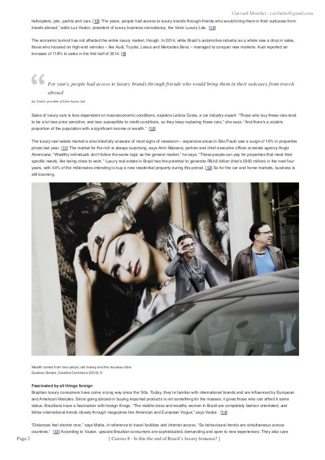 Luxury market-brazil 2015 - Brazil -Marcado de Luxo Slide 2
