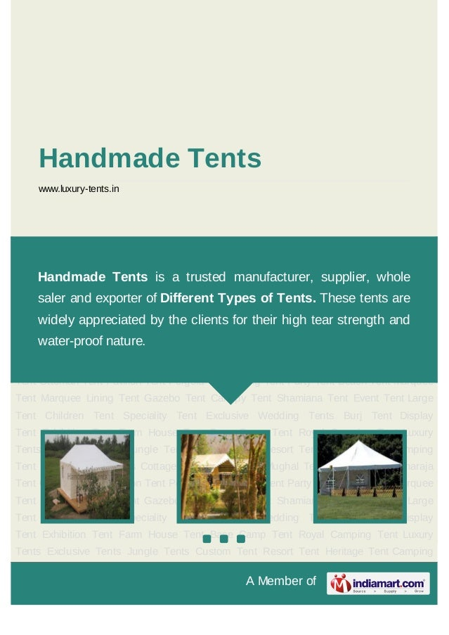 A Member ofHandmade Tentswww.luxury-tents.inExclusive Tents Jungle Tents Custom Tent Resort Tent Heritage Tent CampingTent...