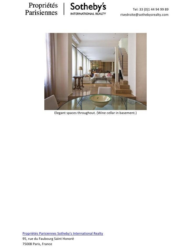 Luxury Apartment For Sale Saint Paul Paris