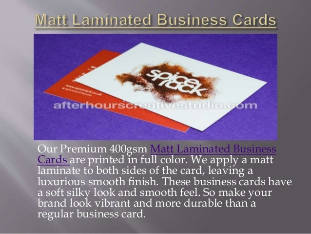 Luxury business cards 6 our premium 400gsm matt laminated business cards colourmoves