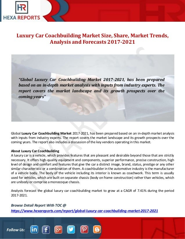 Luxury Car Coachbuilding Market Size Share Market Trends Analysis