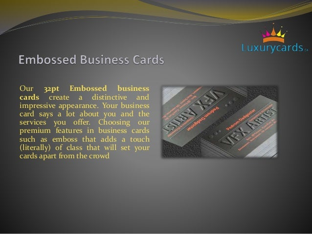 Luxury business cradsonline unique business cards cards apart from the crowd 8 embossed or letterpress business reheart Gallery