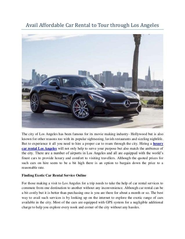 Premier Exotic Luxury Car Rental Los Angeles
