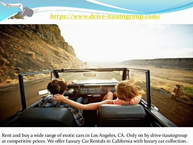 Luxury Car Rentals In California