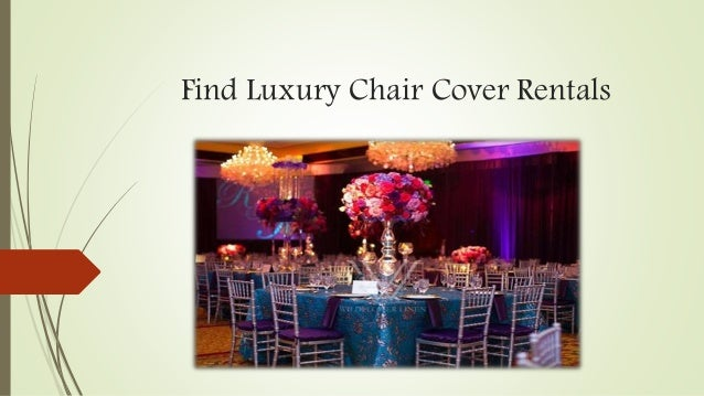Luxury Chair Cover Rentals For Wedding In New York