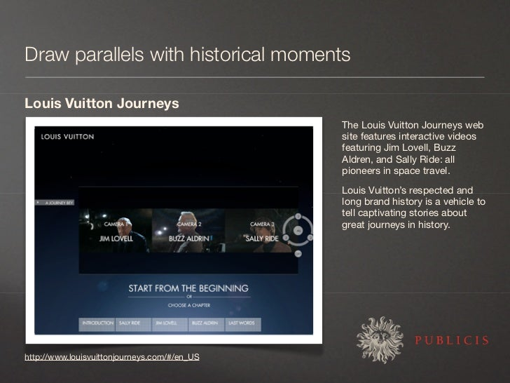 Draw parallels with historical moments  Louis Vuitton Journeys                                               The Louis Vui...