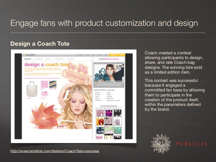 Engage fans with product customization and design  Design a Coach Tote                                                    ...