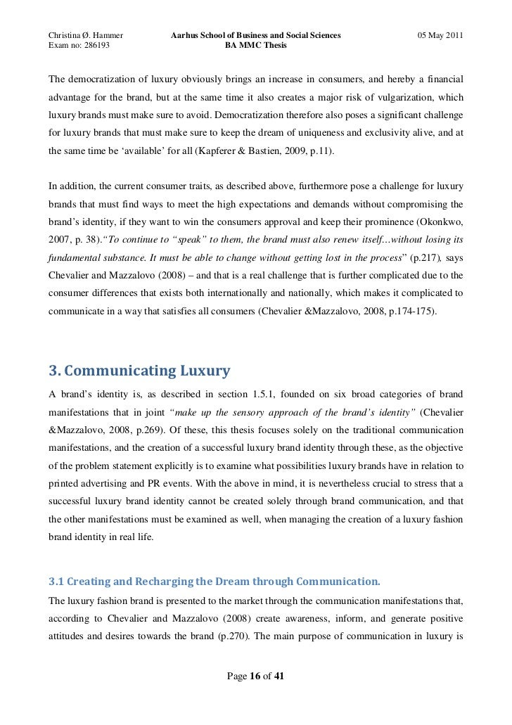 luxury brands dissertation