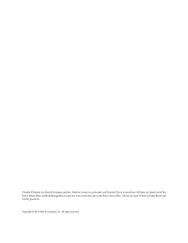 Luxury goods report_2014_bain&company