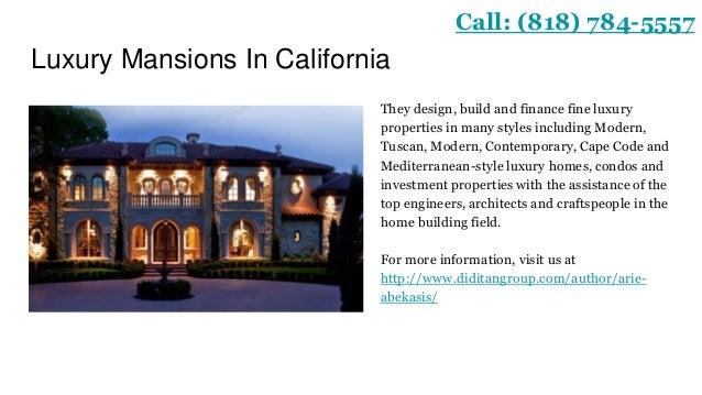 Luxury Home Builder - Luxury home builders in california