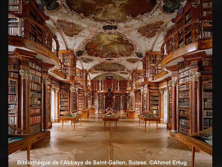 Bibliothèque de l'Abbaye de Saint-Gallen, Suisse. ©Ahmet Ertug