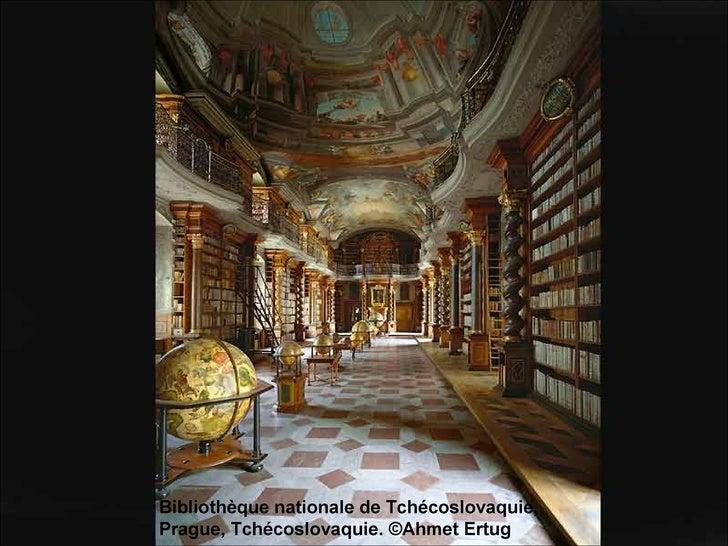 Bibliothèque nationale de Tchécoslovaquie, Prague, Tchécoslovaquie. ©Ahmet Ertug