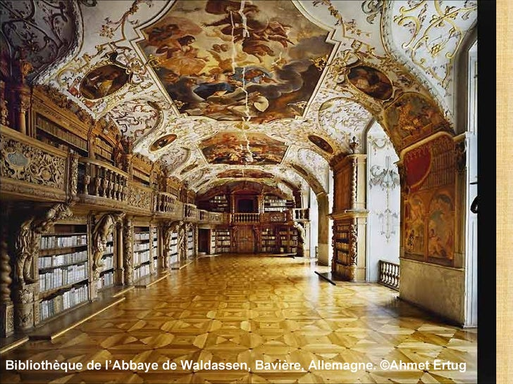 Bibliothèque de l'Abbaye de Waldassen, Bavière, Allemagne. ©Ahmet Ertug