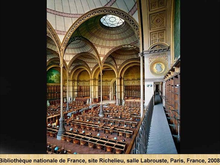 Bibliothèque nationale de France, site Richelieu, salle Labrouste, Paris, France, 2008.