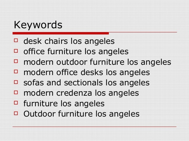 Luxury Office Furniture Los Angeles