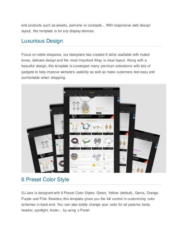 Luxury responsive joomla virtuemart template