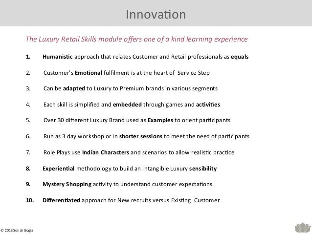 fullling service experiences 11 innovaeon the luxury retail skills