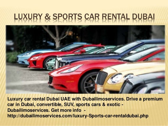Luxury Amp Sports Car Rental Dubai