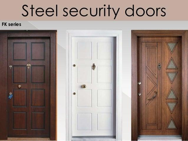 Steel security doors FK series ... & Luxury wooden security doors