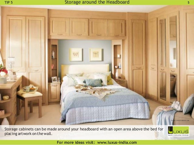 Luxus smart bedroom wardrobe design ideas for Storage above bed ideas