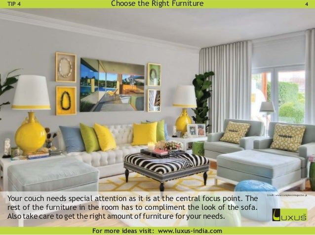 perfect living room. Maintain Proper Scale  6 Guide for Designing the Perfect Living Room