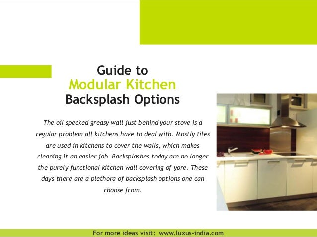 Guide To Modular Kitchen Backsplash Options