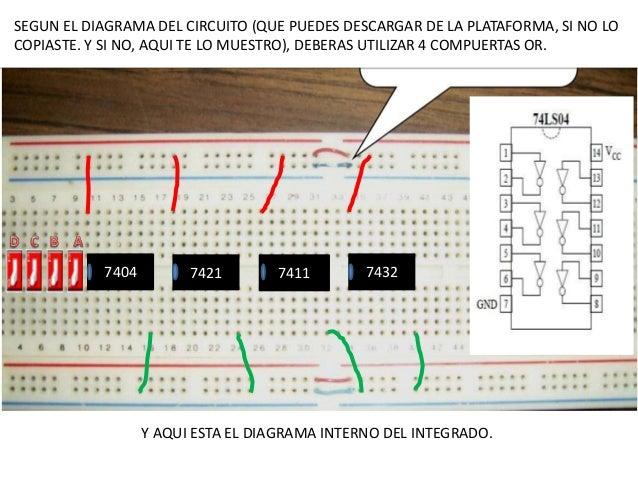 Circuito Integrado 7404 : Semáforo segunda etapa luz ambar