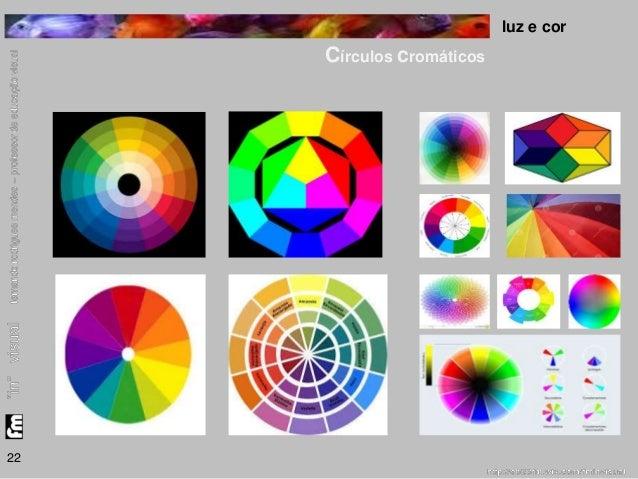 luz e cor  Círculos cromáticos  22
