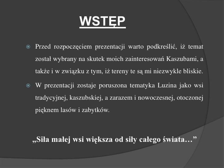 Luzino   PięKna Wieś Kaszubska (Prezentacja Oryginal.) Slide 2