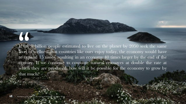 """Slide di testo con immagine """" Introduction of the conference, """"Economia a misura d'uomo"""" by Thomas Miorin If the 9 billion..."""
