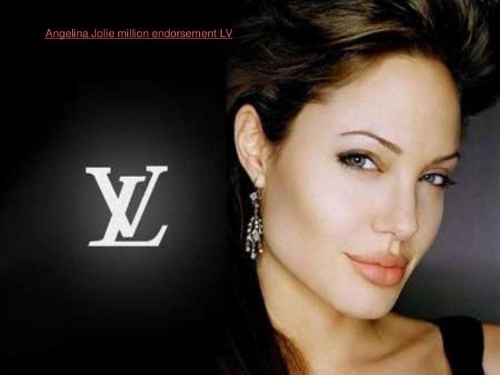 Angelina Jolie million endorsement LV<br />
