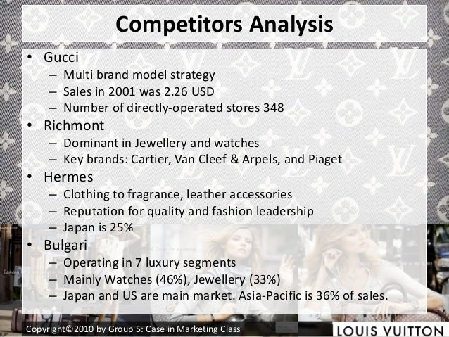 gucci competitor analysis A business uses a swot analysis to identify its strengths,  don't market your business as a low-price business that will match any competitor's offer,.