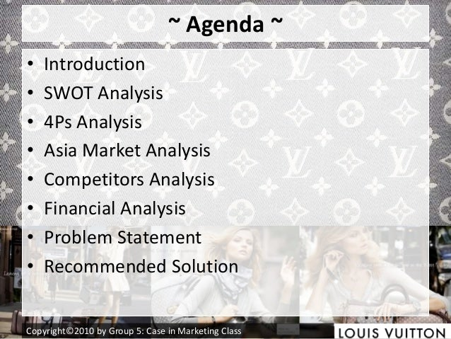 swot analysis on louis vuitton What is a swot analysis it is a way of evaluating the strengths, weaknesses, opportunities, and threats that affect something see wikiwealth's swot tutorial for help.