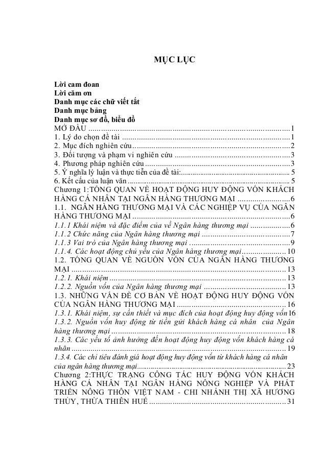 MỤC LỤC Lời cam đoan Lời căm ơn Danh mục các chữ viết tắt Danh mục bảng Danh mục sơ đồ, biểu đồ MỞ ĐẦU ......................