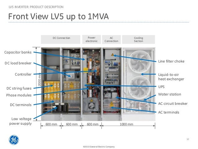 Ge Lv5 1500v 태양광 인버터 Lv5 1500v Solar Inverter