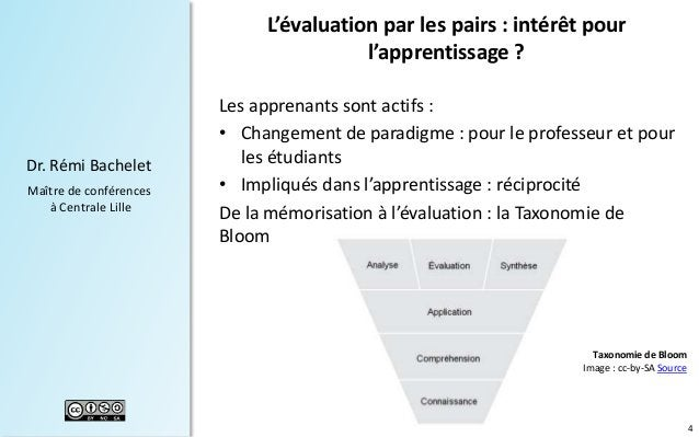 4 Dr. Rémi Bachelet Maître de conférences à Centrale Lille Les apprenants sont actifs : • Changement de paradigme : pour l...