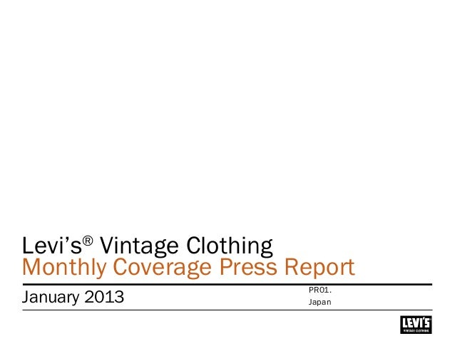 Levi's® Vintage Clothing Monthly Coverage Press Report January 2013 Japan PR01.