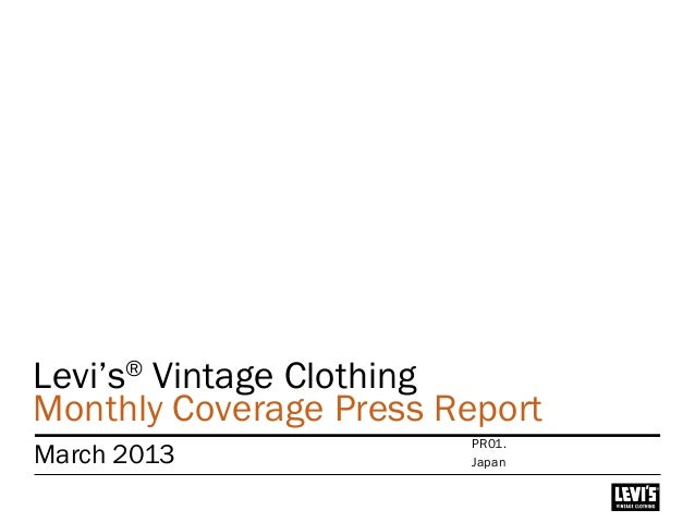 Levi's® Vintage Clothing Monthly Coverage Press Report March 2013 Japan PR01.