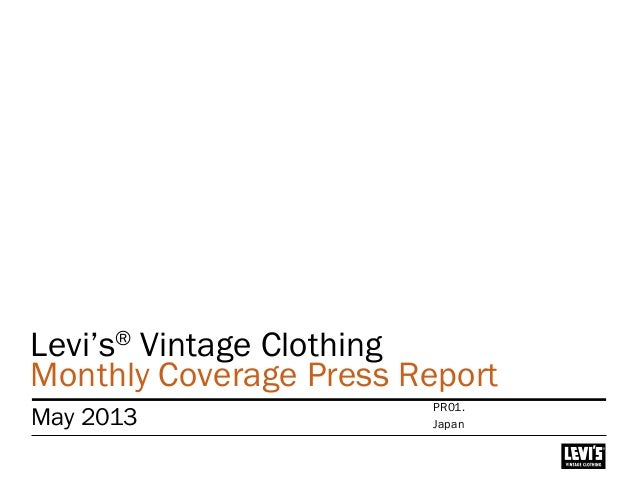 Levi's® Vintage Clothing Monthly Coverage Press Report May 2013 Japan PR01.
