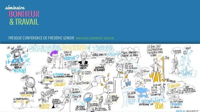 séminaire BONHEUR & TRAVAIL BONHEUR & TRAVAIL FRESQUE CONFERENCE DE FREDERIC LENOIR PAR ALEXIA LEIBBRANDT / BIGSISTA