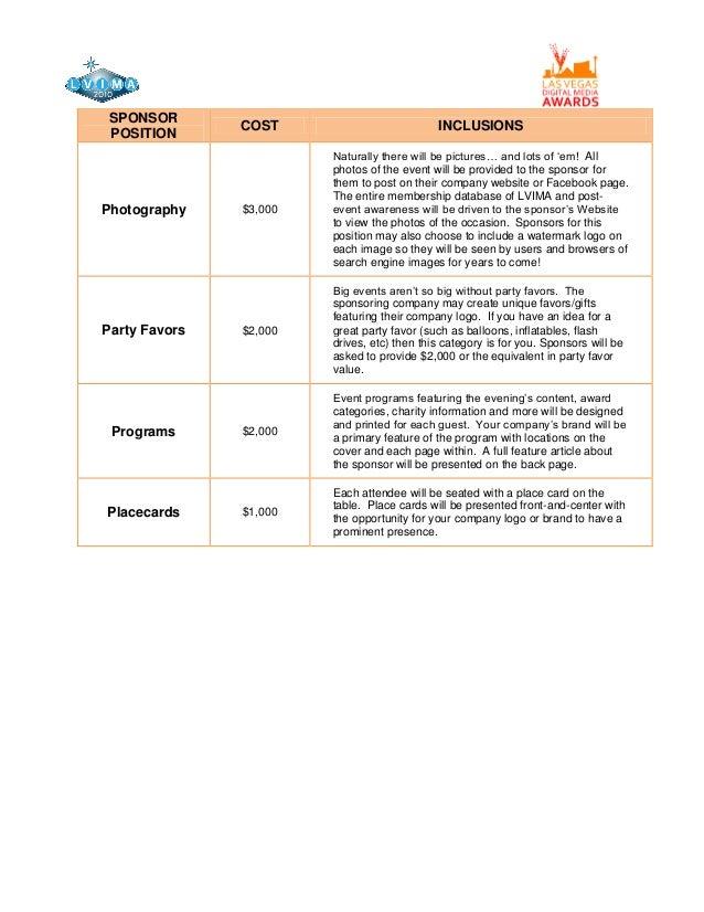 Sponsorship Sheet Sponsorship NSA PittsburghChallenge – Sponsorship Sheet Template