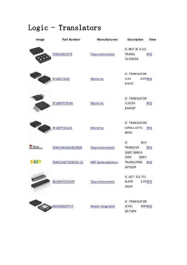 Logic - Translators -Integrated Circuits (ICs