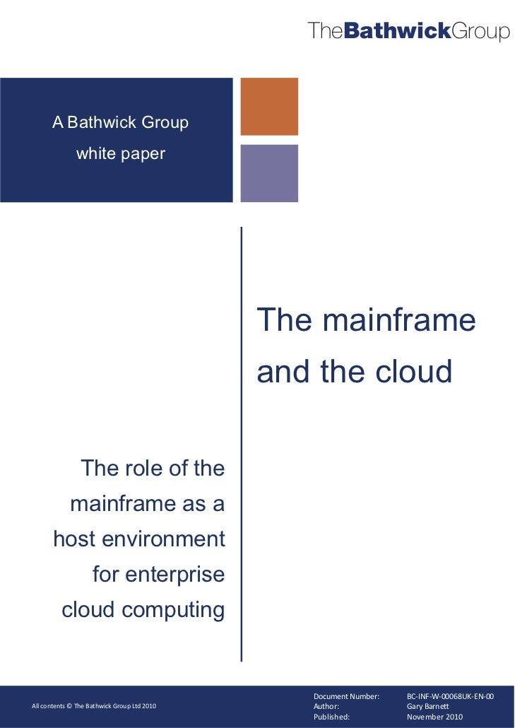 TheBathwickGroup      A Bathwick Group              white paper                                             The mainframe ...