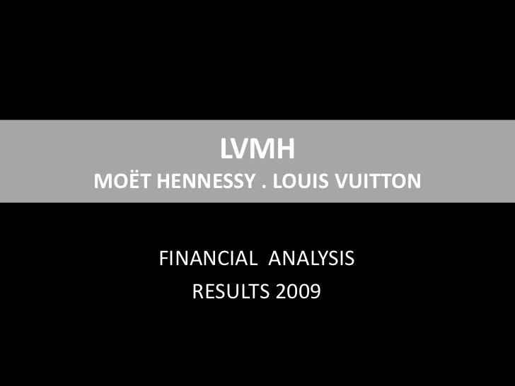 LVMHMOËT HENNESSY . LOUIS VUITTON<br />FINANCIAL  ANALYSIS<br />RESULTS 2009<br />