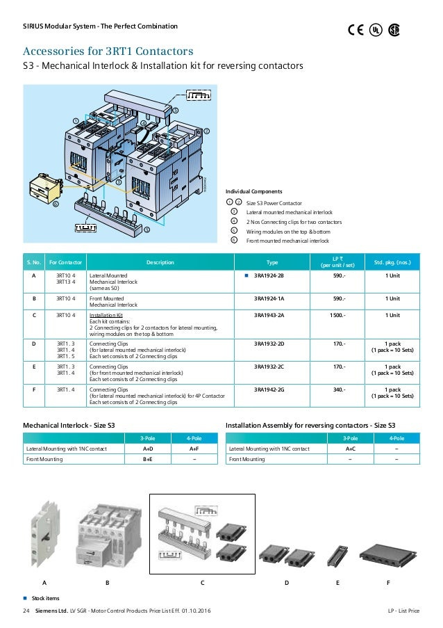3 pole contactor wiring diagram lv motor control products pricelist w e f 1st oct 2016  lv motor control products pricelist w e f 1st oct 2016