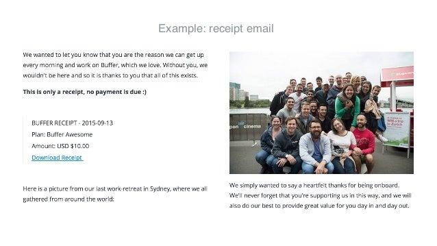 @CaroKopp #SocialFresh Example: receipt email