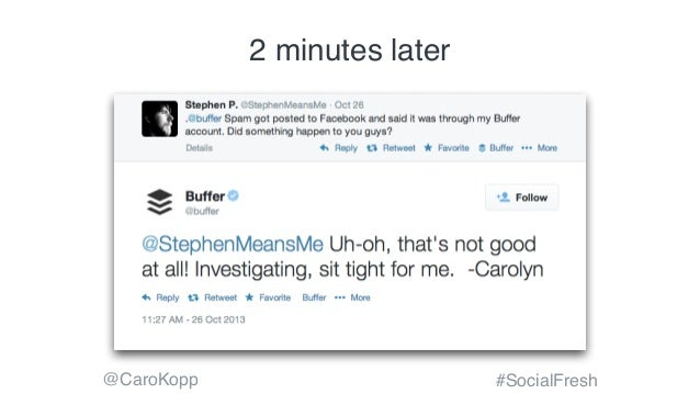 @CaroKopp #SocialFresh 2 minutes later