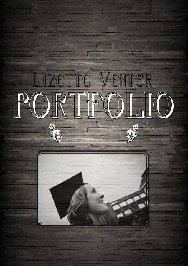 Lizette Venterportfolio      2012