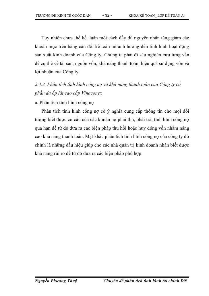 TRƯỜNG ĐH KINH TẾ QUỐC DÂN         - 32 -      KHOA KẾ TOÁN_ LỚP KẾ TOÁN A4   Tuy nhiên chưa thể kết luận một cách đầy đủ ...
