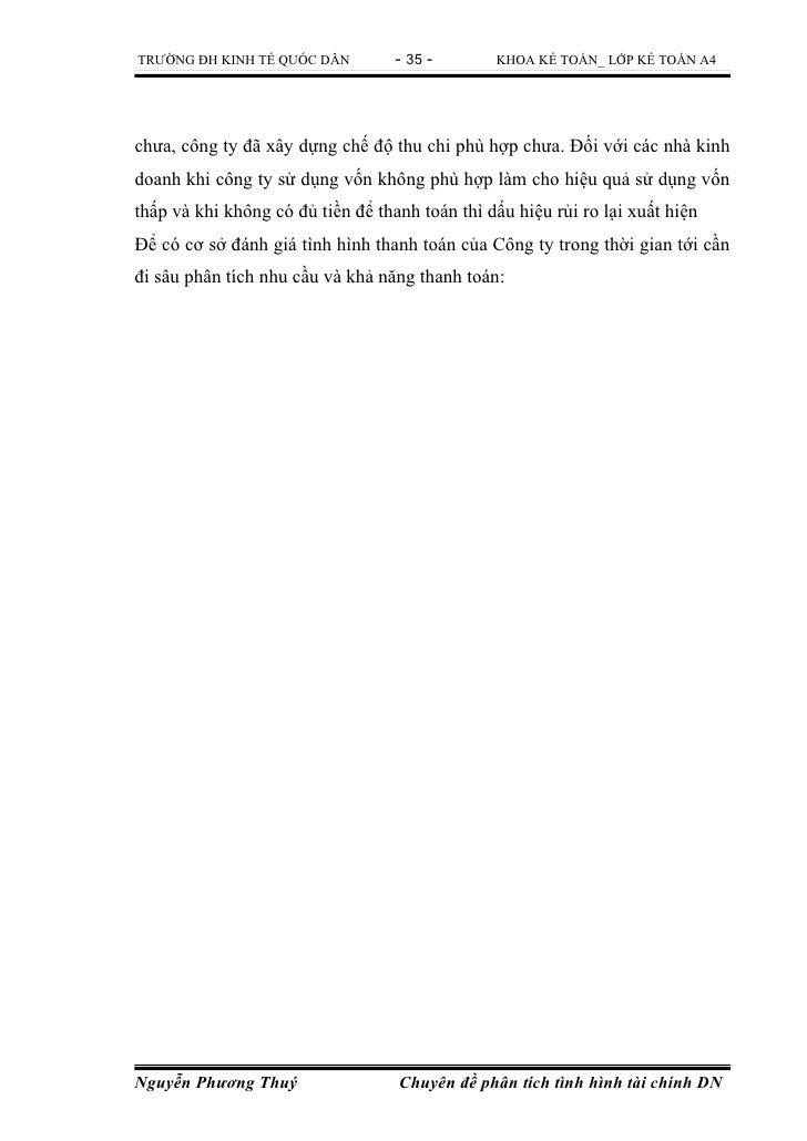 TRƯỜNG ĐH KINH TẾ QUỐC DÂN         - 35 -       KHOA KẾ TOÁN_ LỚP KẾ TOÁN A4chưa, công ty đã xây dựng chế độ thu chi phù h...